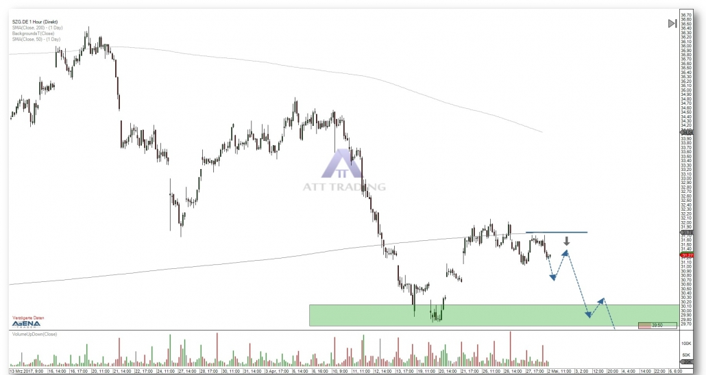 Salzgitter AG hourly chart with target