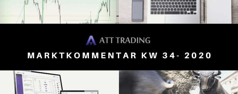 Märkte erzittern vor Corona-Angst - Marktkommentar KW 34/2020